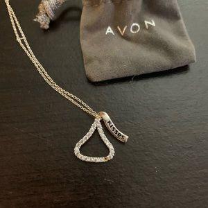 Hershey kiss Avon sterling silver necklace